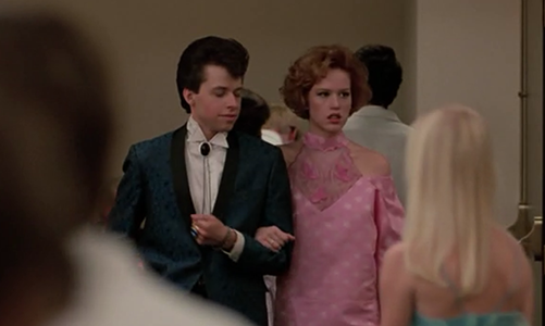 She goes to prom alone, but runs into Jon and they decide to do that lame friend-date thing. Then Molly sees Andrew, he gives her some line, and she ditches her friend for some asshole who dumped her.